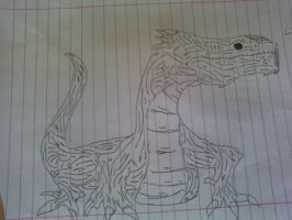 Drawing: Ugly Lizard by rubenimus21