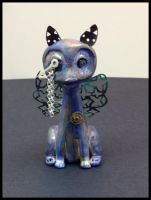 Steampunk monocle kitty by sillysarasue