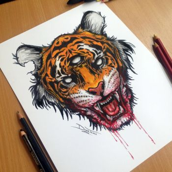 Tiger PRINT! by AtomiccircuS