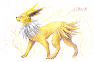 Jolteon by CheezieSpaz