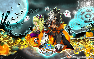 [Elsword] Halloween wide-wall by ClairSH