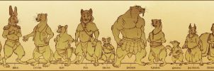 Redwall Species Lineup by mongoosefangs