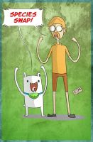 Finn The Dog and Jake The Human by ShadowMaginis