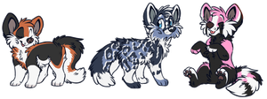 Canine Adoptables :OPEN: by Okami-Heart