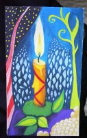 Christmas Card - Candle by Infinitely