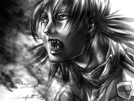 Seras Fight by vendixnosferatu