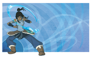LOK:Water Bending by DinKelion