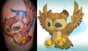 Owl Tattoo Two by zombie