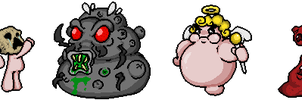 Rebirth Boss Sprites by Memoski