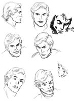 Marvel Face Sketches by TheLadyNerd