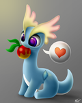 Amaura with a Leppa Berry by SymbianL