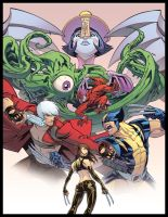 Marvel vs Capcom for UDON by Ross-A-Campbell