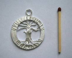 Silver tree of life by ihni