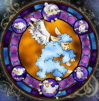 Stained Glass Lamb by ProcneA