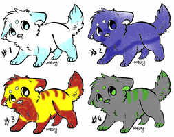 Adoptables Puppies 2 by Shadowwolf66667