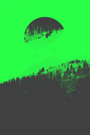 Duotone shot of mountains #green by MadalinVlad