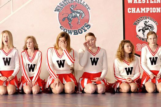 bored cheerleaders by Trueblood