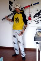 My cosplay of TRAFALGAR LAW by Vegapunk89