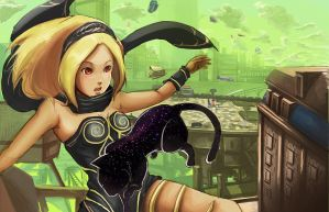 gravity rush kat by MACCOLA