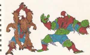 Marvel_Man-Spider and Spider-Hulk_01_Aug2012 by AlexBaxtheDarkSide
