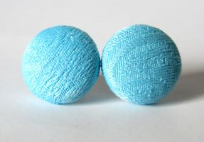 Light blue earrings by KooKooCraft