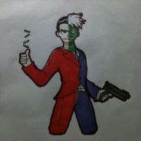Inktober: Two Face by OUC