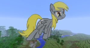 Derpy Hooves Minecraft Art by gam3r4u