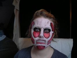 Colossal titan facepaint 2.0 by Blueberrystarbubbles