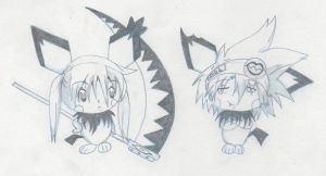 Soul Eater - Maka and Soul Pokemon Version by LunaRossa23