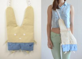 Bunny with Pants Bag by vannesdesigns