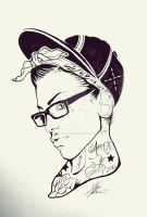 Tattooed girl by MartaCmTattoos