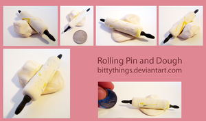 Rolling Pin and Dough by Bittythings