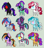 Pony Adoptables - Batch 4 (OPEN) by FellowPegasister