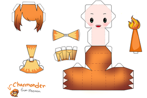 Moemon: Charmander papercraft by JohanAnderssonGX