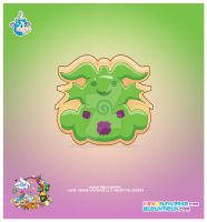 Kawaii Monster Sugar Cookie by KawaiiUniverseStudio