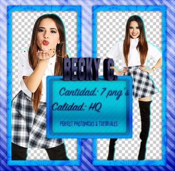 Becky G. Photopack PNG/ PHOTOSHOOT by vampiradeco