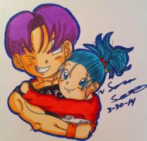 Trunks And Bulla! by dbz-senpai