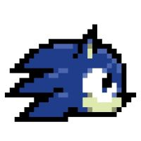Sonic pixel head by Phoacce-Cell5