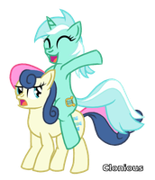 Lyra and Bonbon by InMyDefence