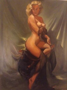 Master Copy of Gil Elvgren's A Golden Beauty by RobSThompson