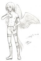 ... happy angel? 8D by Puffsan