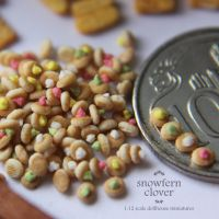 1:12 scale dollhouse miniature sugar gem biscuits by Snowfern