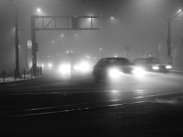 Foggy Night in Belgrade by UrosKrunic