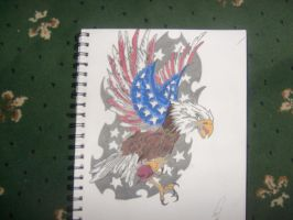 american eagle tattoo by gbftattoos