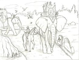 Elephants are comming by TroyandFriends