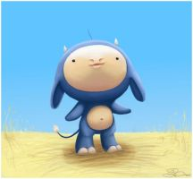 Blue Cow and the Glorious Day by capsicum