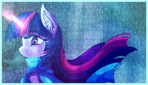 Twilight Sparkle - Quiet Determination by shiita64