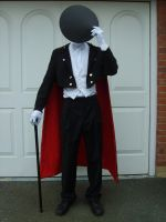 WIP: Tuxedo Mask Cosplay by chioky