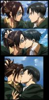 Hanji x Levi Kiss by SGVS