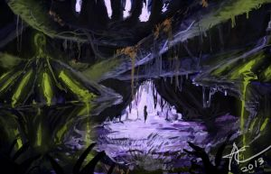 swamp cave by CosTA-S